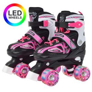 """Apollo Rollschuhe """"Super Quad X Pro"""" größenverstellbare Roller Skates Größe S (31-34) - pink"""