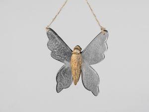 Formano - Schmetterling14 Alu Mango-Holz