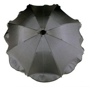 BAMBINIWELT Sonnenschirm für Kinderwagen Ø68cm UV-Schutz50+ Schirm Sonnensegel Sonnenschutz, dunkelgrau