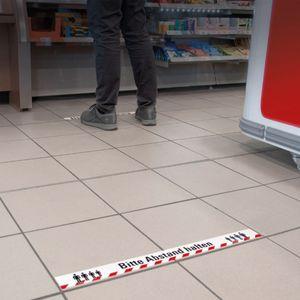 """Fußboden Klebeband, Bodenmarkierungsband """"Bitte Abstand halten"""", Abstandsklebeband"""