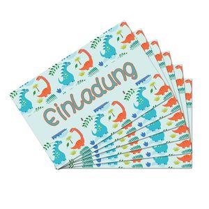 Oblique Unique 6 Dino Einladungskarten Kindergeburtstag Dinosaurier Party Einladungen