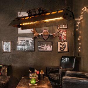 Pendelleuchte Retro Kronleuchter LED Metall Deckenlampen Industrieller Decor Vintage Hängelampe Bar Lampe Home Loft