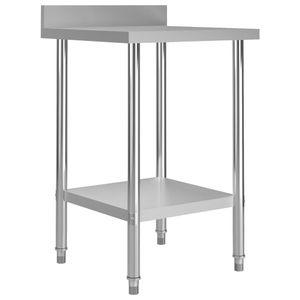 SIRUITON Küchen-Arbeitstisch mit Aufkantung 60 X 60 X 93 cm Edelstahl