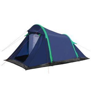 anlund Campingzelt mit aufblasbaren Stangen 320×170×150/110 Blau/Grün