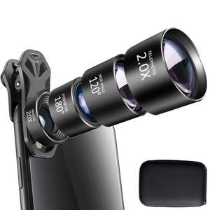 Handyobjektiv 4-i-1 Fisheye + Weitwinkel + Tele + Makroobjektiv