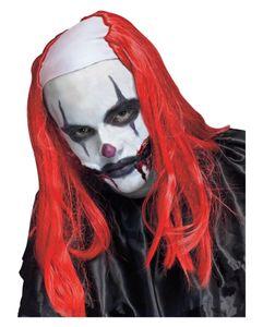 Rote Killer-Clown Perücke für Halloween