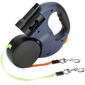 Hundeleine Automatikleine Doppelte Einziehbare Hundeleine 3M Flexible Einziehbare Hundeleine mit LED-Licht