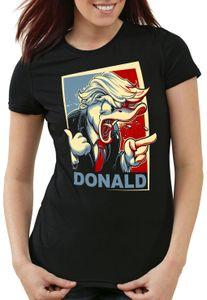 style3 Der Donald Damen T-Shirt vereinigte staaten von amerika usa, Größe:S