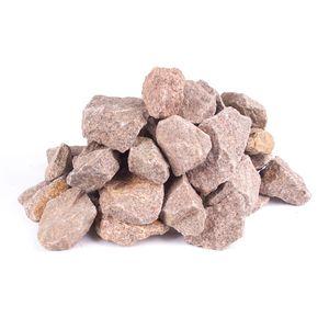 (1,58€/kg) Saunasteine roter Granit ca. 20-40mm 10Kg handsortiert und vorgereinigt | frachtfrei in DE
