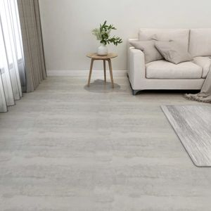 PVC-Fliesen Selbstklebend 55 Stk. Laminat Dielen Bodenbelag | für Wohnzimmer Schlafzimmer Büro 5,11 m² Hellgrau - 42962