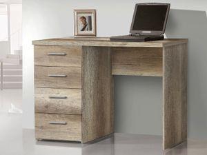 """Schreibtisch Bürotisch Arbeitstisch Computertisch Tisch Büromöbel """"Balu II"""" Eiche Antik"""