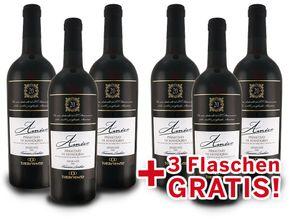 Torrevento Primitivo di Manduria AMICO - Italien-Apulien Vorteilspaket 6 für 3 (6x 0,75l) Rotwein trocken