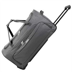 XL Trolley Reisetasche mit Rollen und Verstärkungsstreben, 90 Liter, diverse Farben - XL - Grau