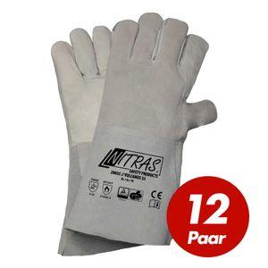 NITRAS Schweisserhandschuhe Vulcanus 20035 5-Finger-Handschuhe Brandfest besteht aus einem Materialmix Voll- und Spaltleder Größe:10
