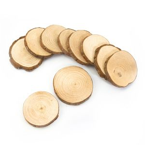 Oblique Unique 10 Holz Scheiben Untersetzer mit Rinde Holzdeko