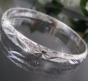 Armreif Armspange Armband Silber plattiert Damen Schmuck A1164