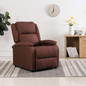 Chunhe TV-Relaxsessel Gaming Stuhl Bürostuhl Schreibtischstuhl Ohrensessel Polstersessel Braun Stoff