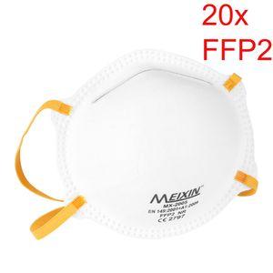 20X FFP2 Atemmaske, Schutzmaske, Schutzstufe FFP2