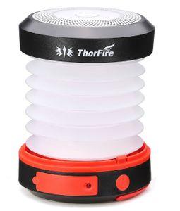 ThorFire Campinglampe LED Faltbare Laterne, Dynamo Tragbar Taschenlampe, Wiederaufladbar durch Kurbel und USB, Campingleuchte für Angeln Outdoor Camping