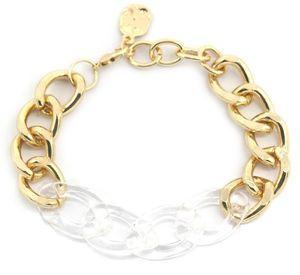 gliederarmband Zoë Damen Edelstahl gold/transparent