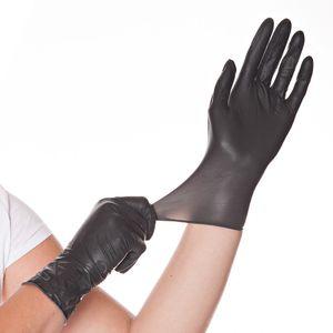 100 Hygostar Diabolo Latex Handschuhe puderfrei Schwarz Größe L