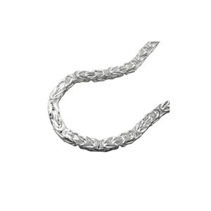 Kette ca.4mm Königskette vierkant glänzend Silber 925 55cm silber 4x4mm