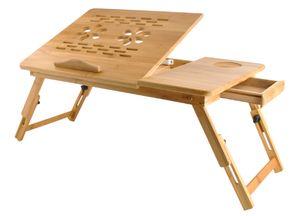 Laptoptisch  Notebooktisch aus Holz,Betttisch Zeichentisch und Esstisch für Bett 55x34,5x26cm 7974
