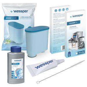 Kit für Saeco Philips CA6903 CA6700 / 10 CA6704 Wasserfilter Entkalker Reinigungstabletten Reiniger und Fett