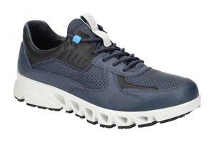 Ecco Multi Vent M 8801545236 Herrensneaker, Ombre/Marine/Black, Leder, NEU - Herrenschuhe Sneaker / Schnürschuh, Blau, leder (goretex)