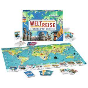 RAVENSBURGER Familienspiel Weltreise Wettlaufspiel Würfelspiel Gesellschaftspiel
