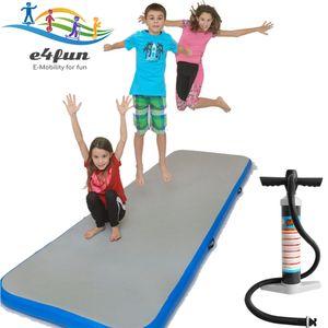 Airtrack, Air Track Matte aufblasbare 3 Meter Länge Trainingsmatte inklusive Handpumpe - Aufblasbare robuste Gymnastik Matte 300 x 100 x 10 cm,