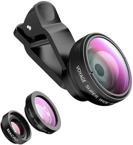 Phone lens Fisheye Objektiv Set - 3 in 1 Fischauge Handy Clip On Kamera Adapter für Smartphones - 0.4X Weitwinkelobjektiv + 180 Grad Fisheye Objektiv + 10X Makroobjektiv