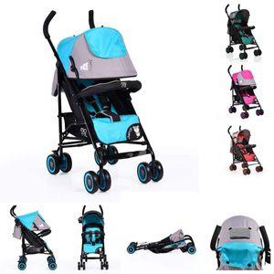 Kinderwagen, Buggy Jerry, Sonnendach, schwenkbare Vorderräder, Farbe:blau
