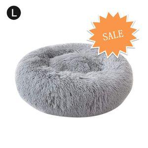 Hikeren Haustierbett für Katzen und Hunde Rundes Plüsch Hundebett Katzenbett in Doughnut-Form Farbe und Größe Optional 60cm