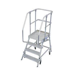 Krause STABILO PodestLeiter fahrbar, einseitig begehbar 4 Stufen