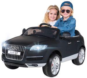 Kinder Elektroauto AUDI Q7 4L Kinderauto Elektrofahrzeug Elektro Auto Spielzeug (Matt/Schwarz)