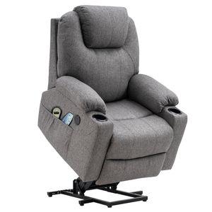 MCombo Elektrisch Aufstehhilfe Fernsehsessel Relaxsessel Massage Heizung USB 7040DE
