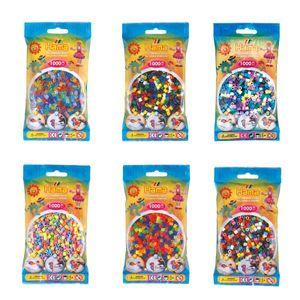 HAMA Bügelperlen Set midi 1000 Perlen Pastelll Neon Glitzer Perlen Mix Vollton