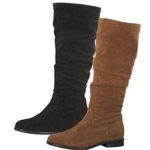 Tamaris Damen Stiefel Leder 1-25545-25, Größe:37 EU, Farbe:Braun