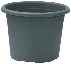 10er Set Topf Cylindro 25 cm aus Kunststoff Sparpaket, Farbe:anthrazit
