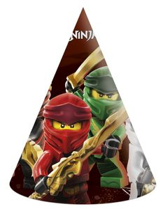 party Hüte Lego Ninjago Papier 6 Stück