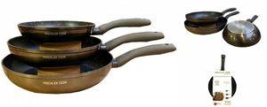 Mischler Cook kochgeschirrset Geschmiedetes Aluminium rot 3-teilig