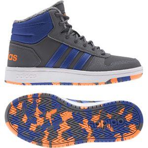 adidas Hoops Mid 2.0 Kinder Sneaker grey five/team royal blue/signal orange 35