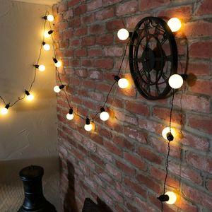 4m G50 20er Globe LED Glühbirnen Warmweiß Lichterkette Batteriebetrieben Innen Außen Deko Lichterketten, Weiß Kugel