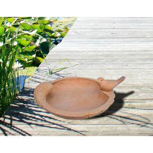 Vogeltränke Keramik Vogelbad Naturstein Stein Wasserschale Vögel Wasserspender
