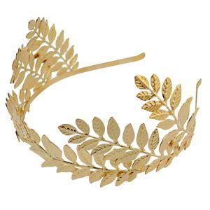 Boho Blatt Zweig Braut Haar Krone Kopfschmuck Kleid Alice Band Gold 2 14cm Stirnband 1970er Jahre