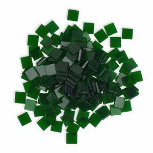 Creleo - Mosaiksteine 10x10mm tannengrün 190 Stück 45 g