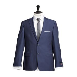 Größe 325 atelier torino Business Sakko Prestige mit Seitenschlitzen Marine Blau Normale Passform Classic Fit 100% Schurwolle 230g