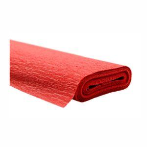 Creleo - Krepppapier rot 50x250 cm Rolle färbt nicht ab bei kontakt mit Wasser