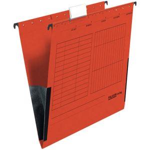 15 x FALKEN Hängetasche DIN A4 UniReg Rot 230 g/m² Kraftkarton mit Leinenfröschen